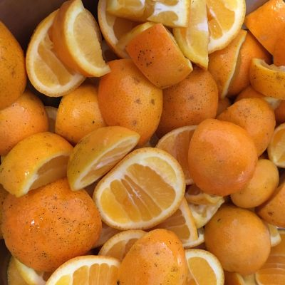 Photo of Seville oranges in preparation